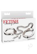 Fetish Fantasy Metal Leg Cuffs Silver