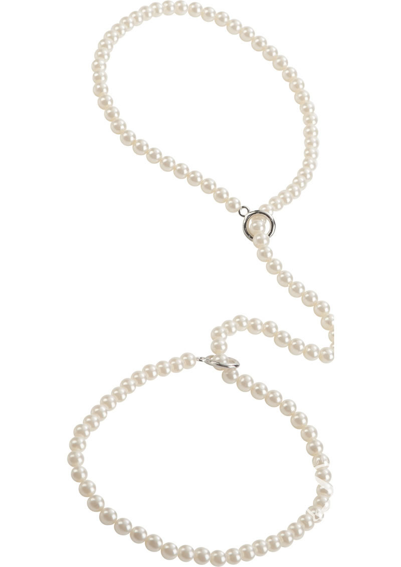 Playful In Pearls Pearl Cuffs White