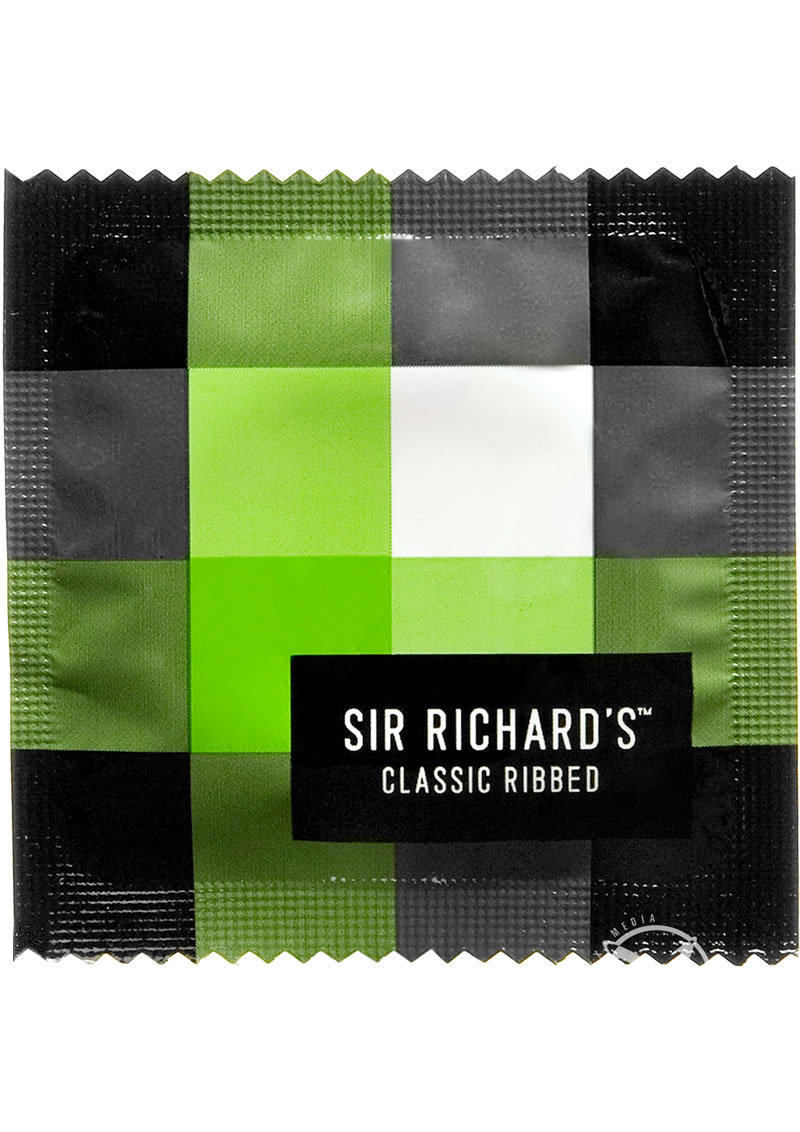Sir Richards Classic Ribbed Textured Latex Condoms 12 Each Per Pack